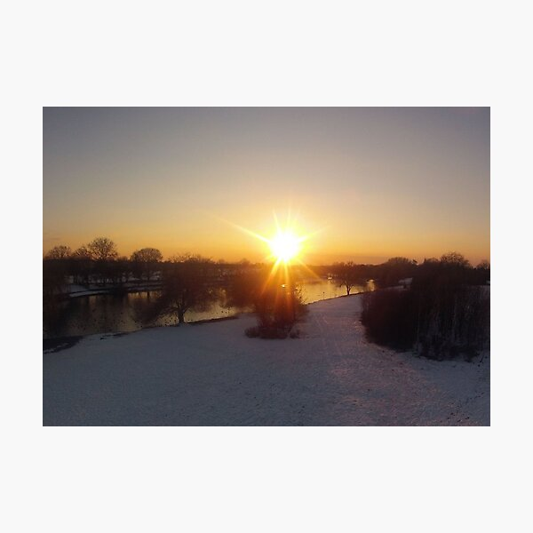 Snow Sunset Photographic Print
