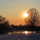 Snow Sunset 2 by Peter Barrett