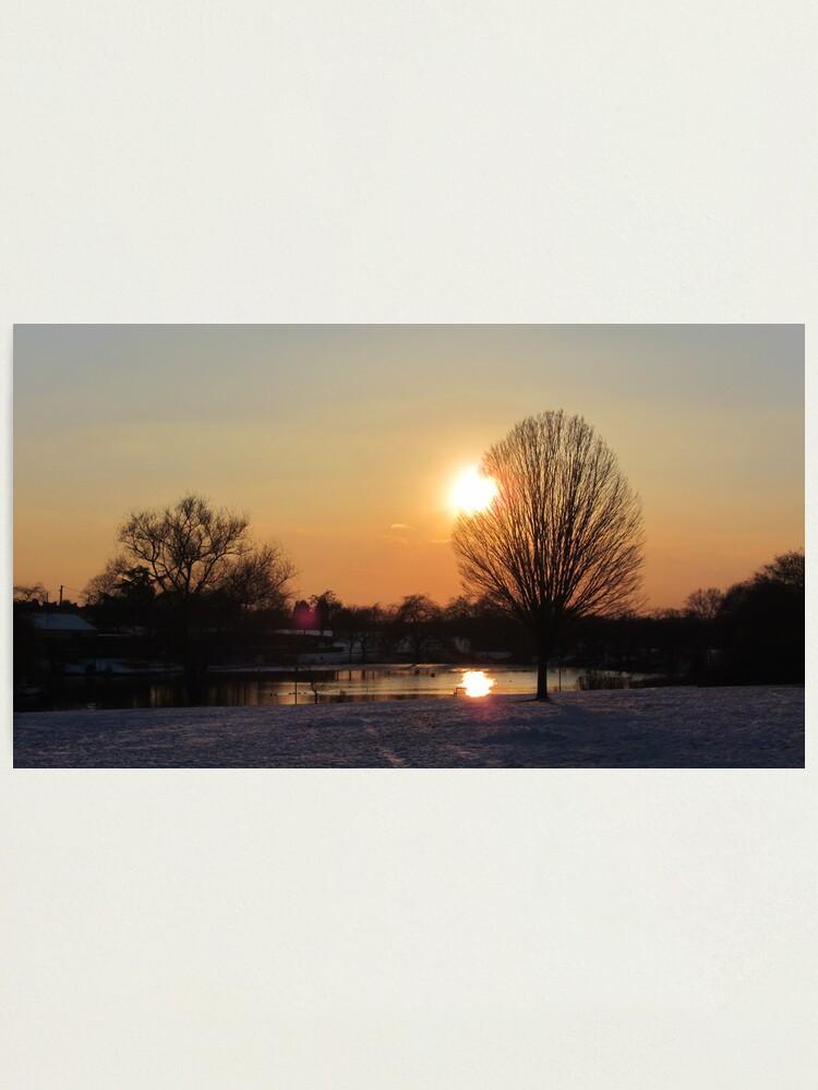 Alternate view of Snow Sunset 2 Photographic Print