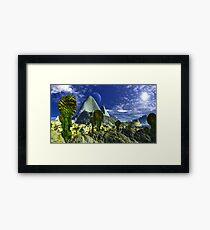 Sileen Desert Moon Framed Print