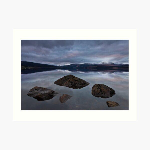 Clatteringshaws Loch Art Print