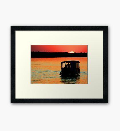 Zambezi Sunset Framed Print