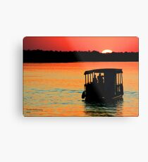 Zambezi Sunset Metal Print