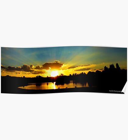 Sunset over tuks Poster