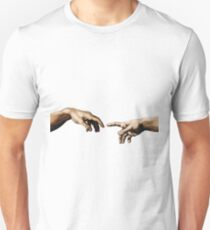 Creation Of Adam Hands Unisex T-Shirt