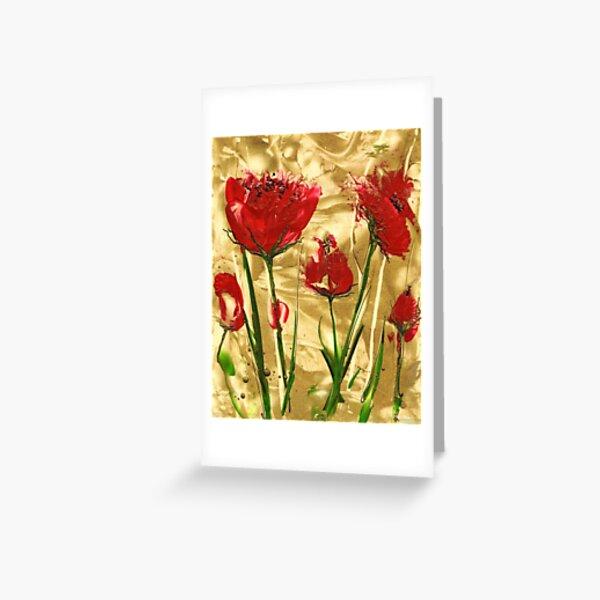 Poppy Gold Greeting Card