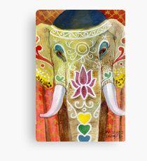 Thai Painted Elephant Canvas Print