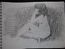 Life drawing(3 of 6) -(080212)- black biro pen/digital photo by paulramnora