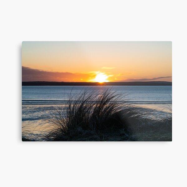 Sunset, Dunnet Dunes Caithness Metal Print