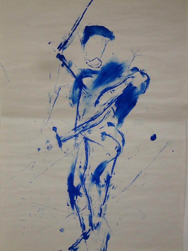 Blue Figure by William Ferrante