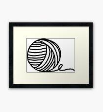 Yarn Addict Framed Print
