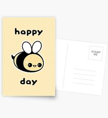 Cute Bee Birthday Postcards