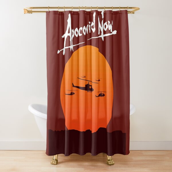 Apocovid Now sun prints (rare white variant) Shower Curtain