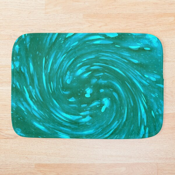 Aqua, Teal, Turquoise  Bath Mat