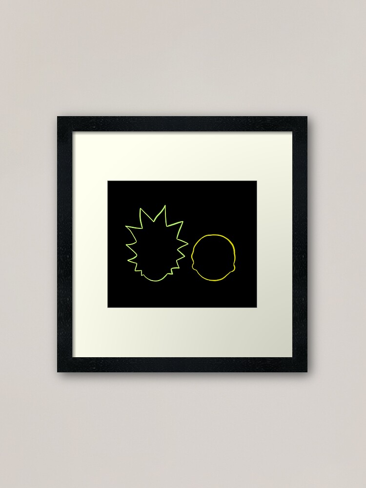Alternate view of Rick and Morty Framed Art Print