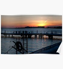 Sunset at the Harbourfront Poster