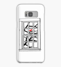 Peering out the Window Samsung Galaxy Case/Skin