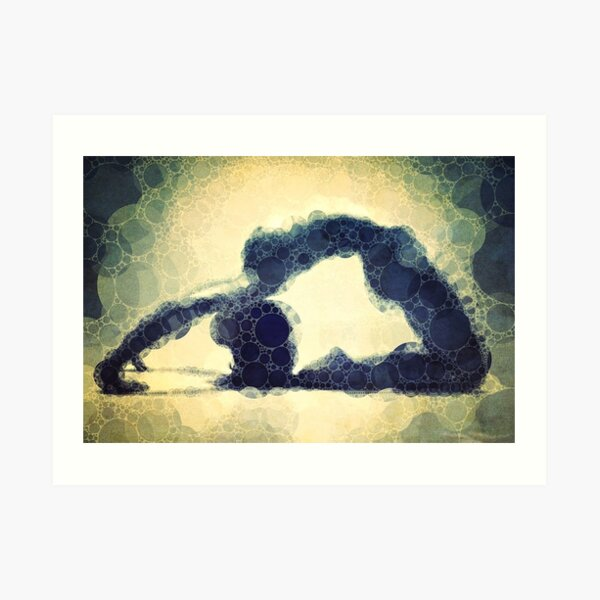 Kapotasana - Yoga Art 17 Art Print