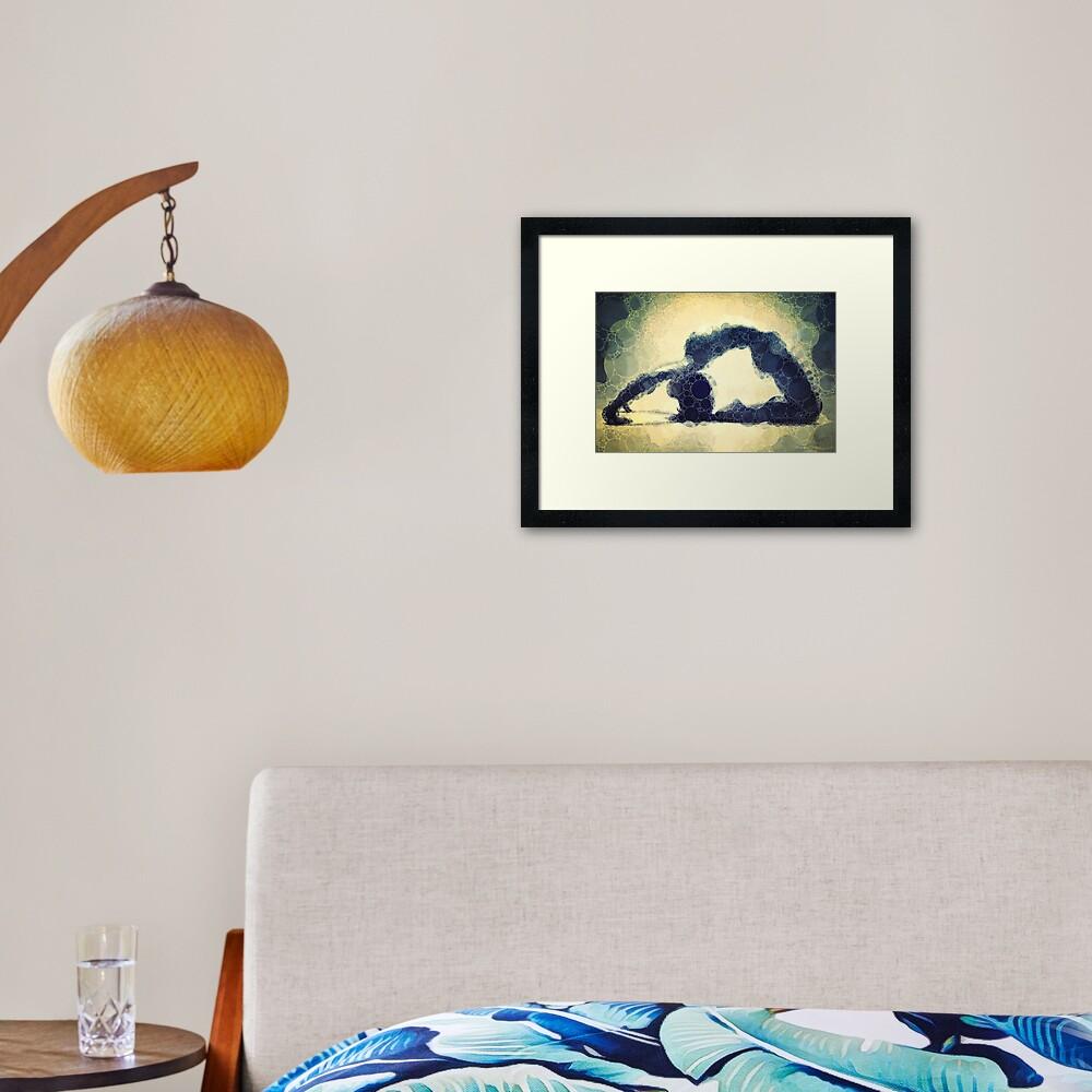 Kapotasana - Yoga Art 17 Framed Art Print