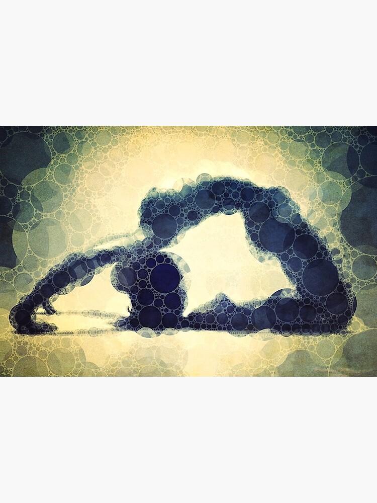 Kapotasana - Yoga Art 17 by john-dalton