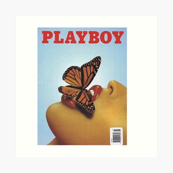Vintage Blue Playboy Poster  Art Print