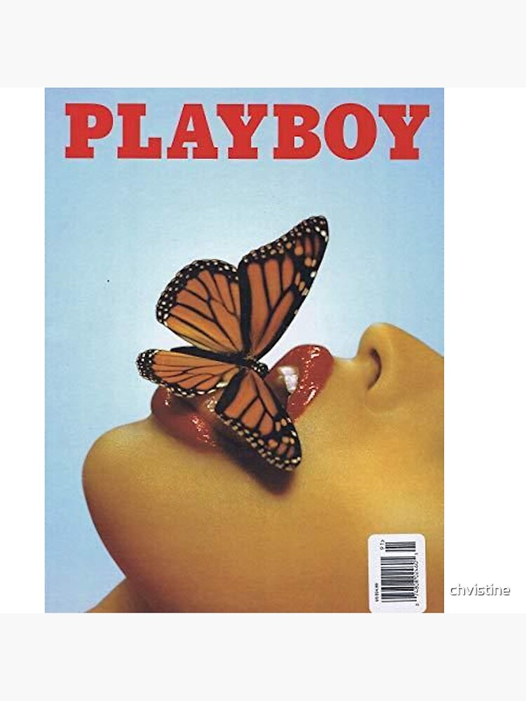 Vintage Blue Playboy Poster  by chvistine