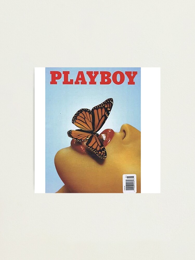 Alternate view of Vintage Blue Playboy Poster  Photographic Print