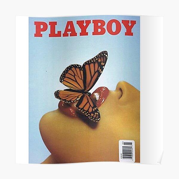 Vintage Blue Playboy Poster  Poster