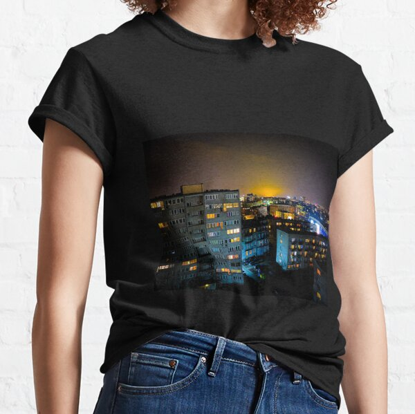 Block Buildings in Wroclaw, Poland Classic T-Shirt