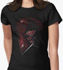 DEADBUNNY - amor·ach·ne·pho·bi·a (on black) Womens Fitted T-Shirt