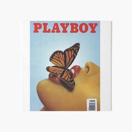 Vintage Blue Playboy Poster  Art Board Print