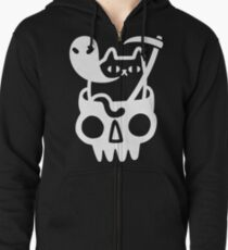 Doom Cat Zipped Hoodie