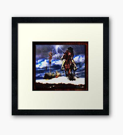 White Sands Framed Print