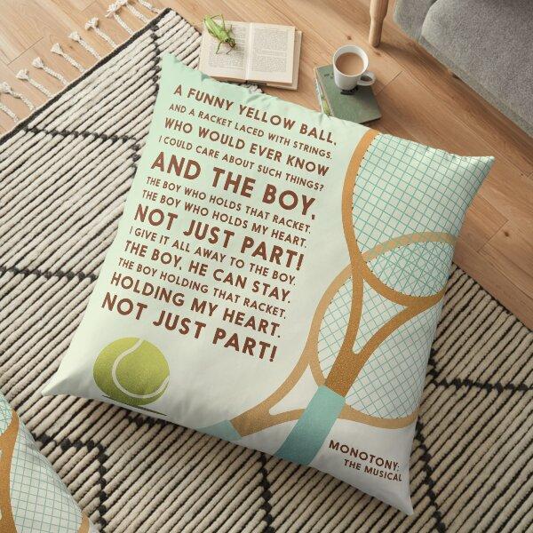 Tennis Song Lyric Art Floor Pillow