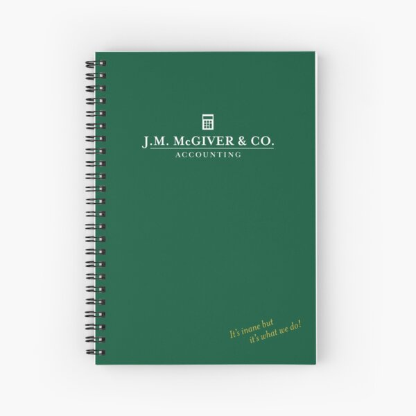 J.M. McGiver & Co. Accounting Firm Logo Art Spiral Notebook