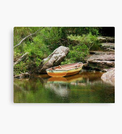 So I Leave My Boat Behind..... Canvas Print