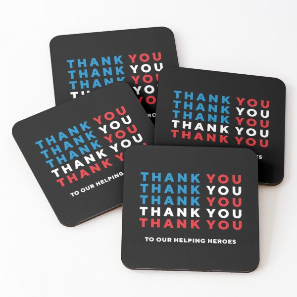 Thank You To Our Helping Heroes Coasters (Set of 4)