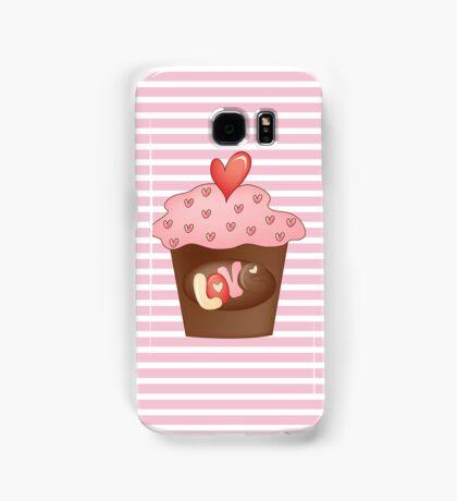 Cupcake love Samsung Galaxy Case/Skin