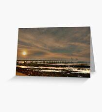 Severn Bridge at Dusk Greeting Card