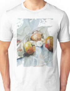 Two apples, one egg and onion - Cooking quartet Unisex T-Shirt