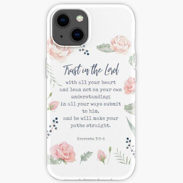 Sprüche 3: 5-6 - Inspirierendes christliches Zitat iPhone Flexible Hülle
