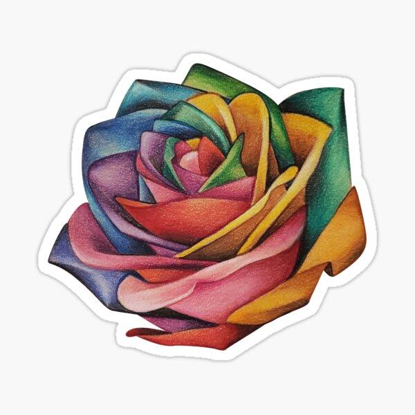 Rainbow Rose Sticker