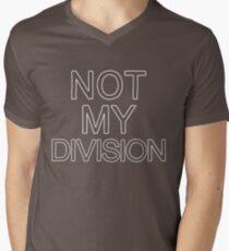 Not My Division (White) Men's V-Neck T-Shirt