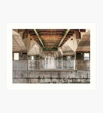 Beneath the Severn Bridge Art Print