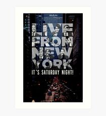 Live From New York, Saturday Night Live Art Print