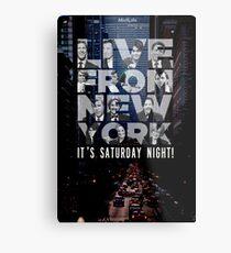 Live From New York, Saturday Night Live Metal Print