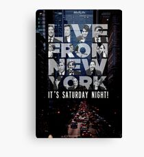 Live From New York, Saturday Night Live Canvas Print