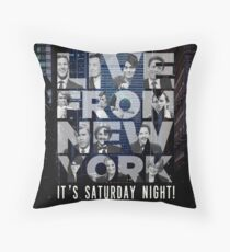 Live From New York, Saturday Night Live Throw Pillow