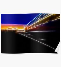 Evening Train Poster