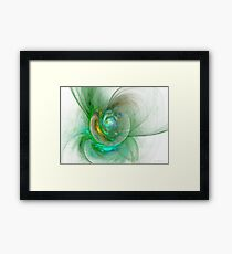 The whole world in a small flower Framed Print